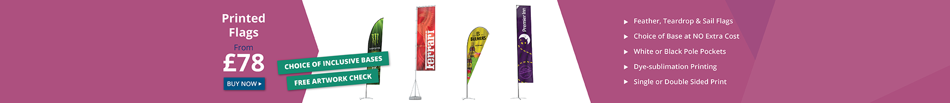 Outdoor Displays & Printed Promotional Flags