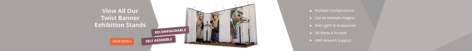 Twist Banners Exhibition Stands