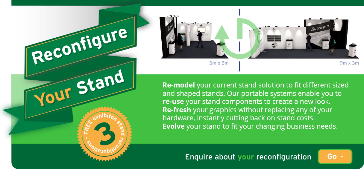 Reconfigure your exhibition stand