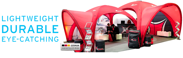 lightweight, durable exhibition tent