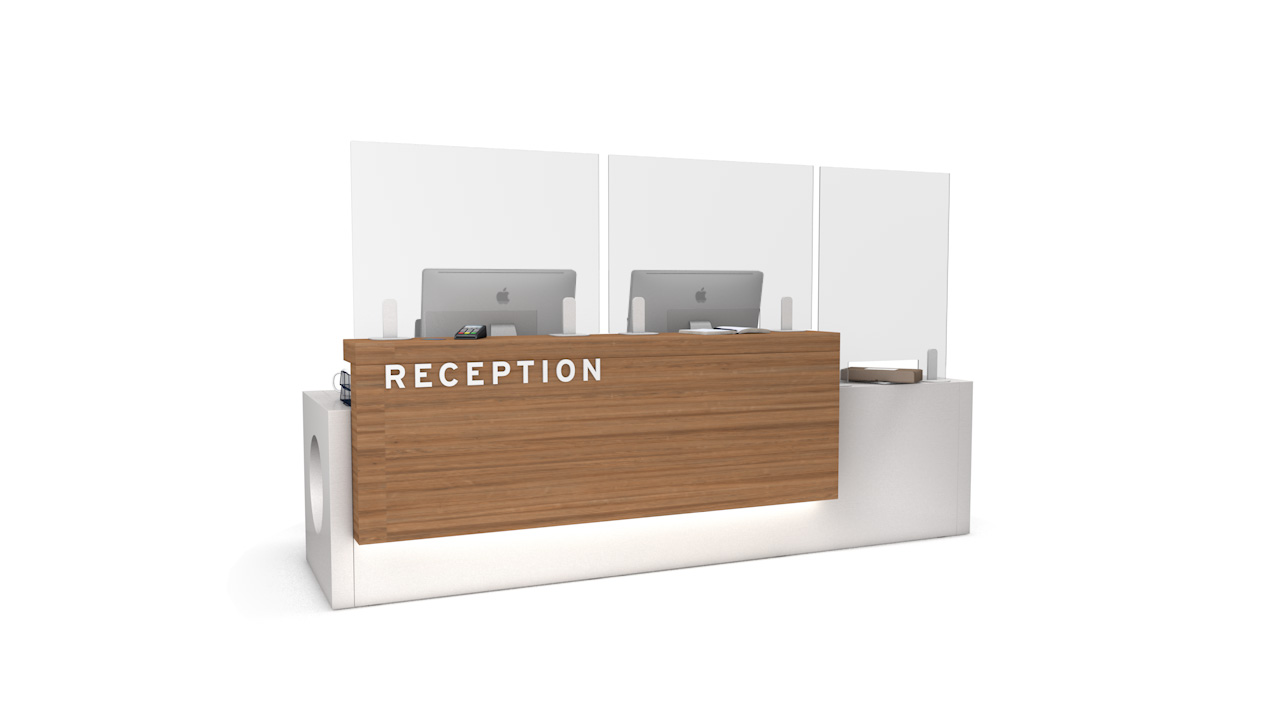 ACHOO<sup>®</sup> Perspex Reception Sneeze Guard Screen