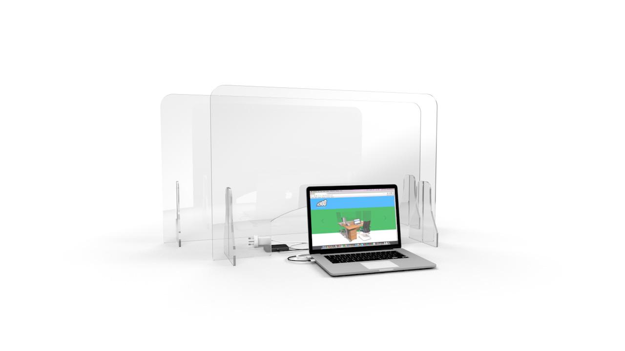 ACHOO<sup>®</sup> Crystal Clear Free Standing Perspex Screen