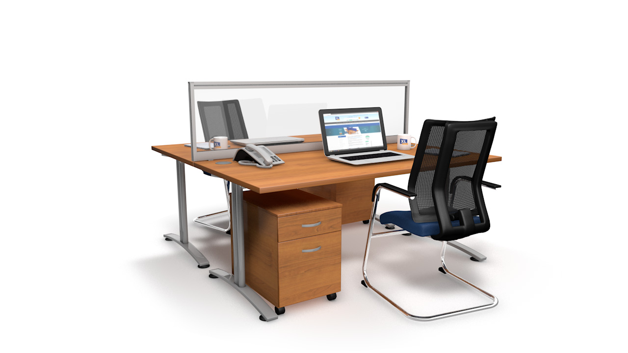 Glazed Office Desk Screen
