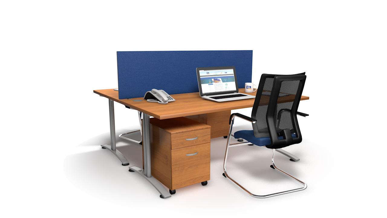 Speedy Office Desk Screens Blue