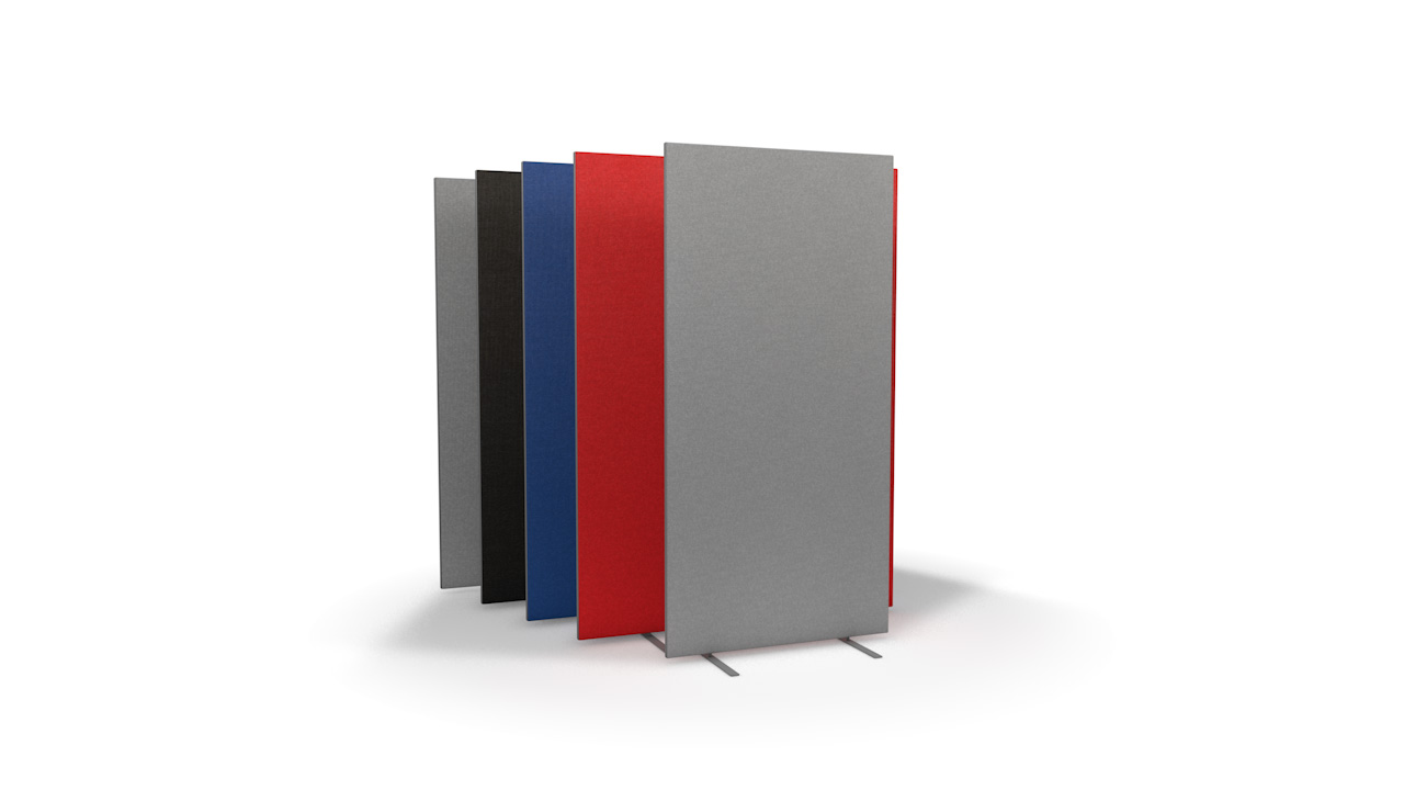 Speedy Office Screens 1600mm High Partition Black