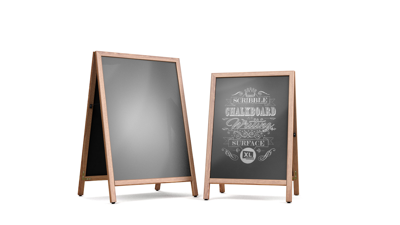 SCRIBBLE<sup>™</sup> Slide-In Double Sided Chalkboard Sign