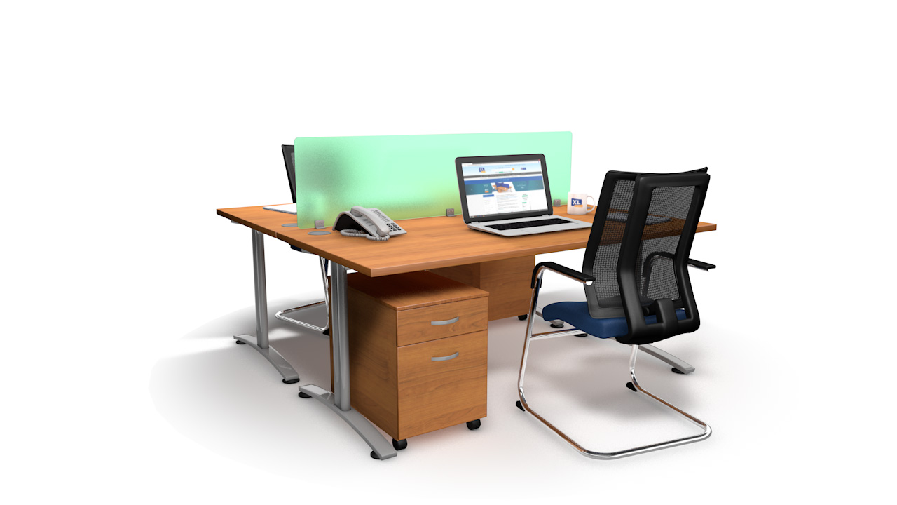 Spectrum Acrylic Straight Office Desk Screen