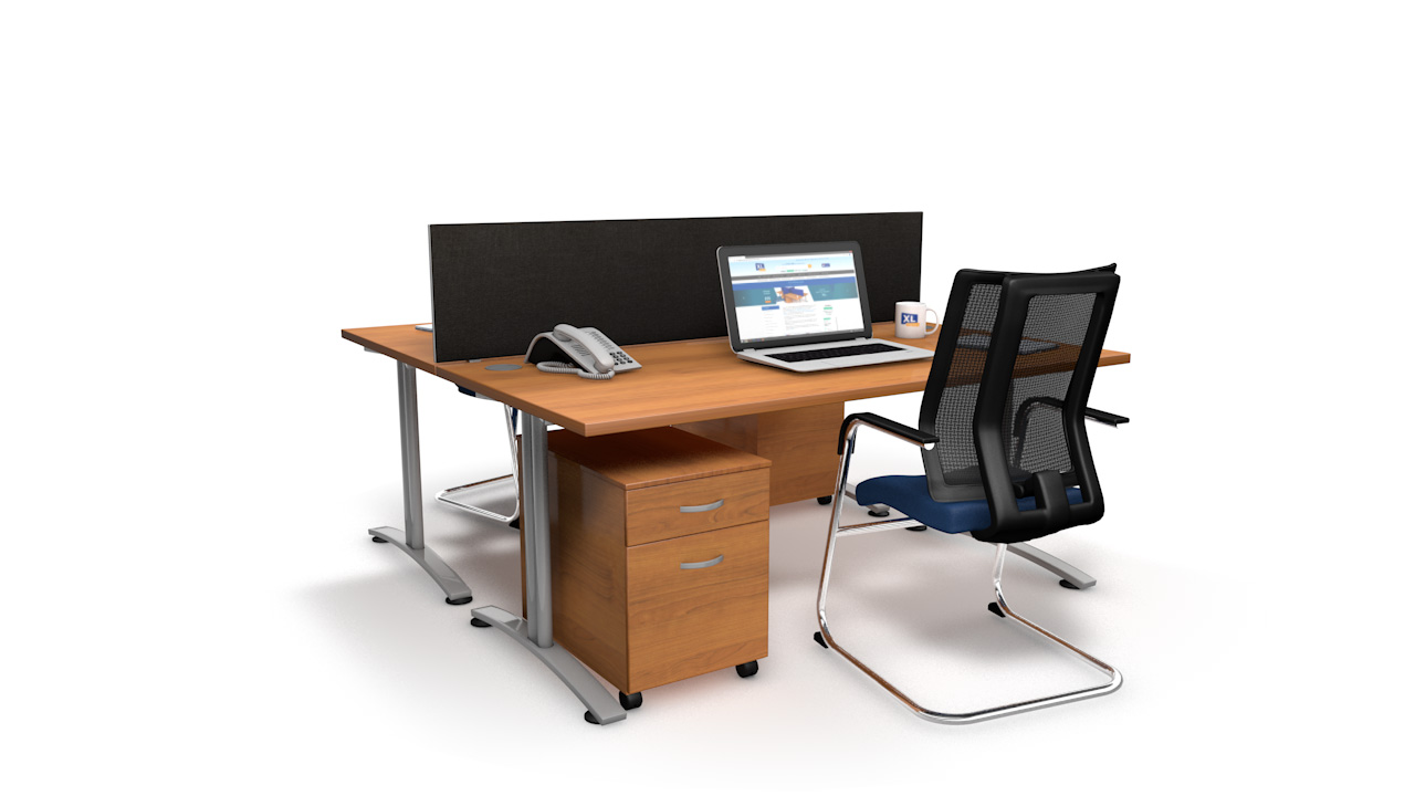 Spectrum Fabric Straight Office Desk Screen
