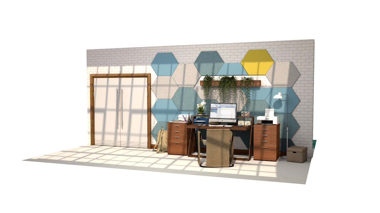 ZENARTRO<sup>™</sup> Diamond Shape Acoustic Wall Panelling