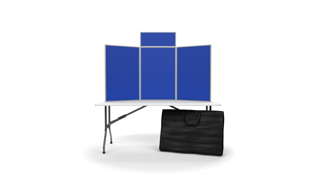 Senior Pinnable Table Top Folding Display Board