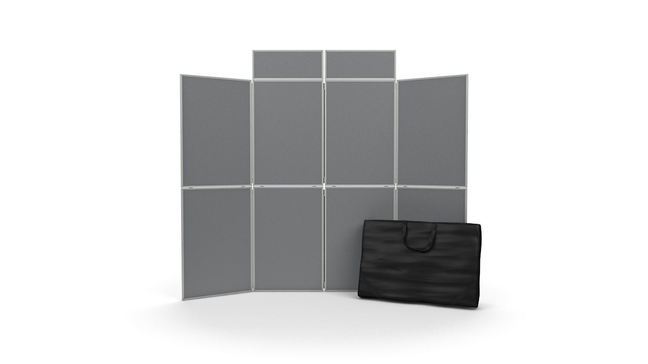 8 Panel Pinnable Folding Display Board Kit