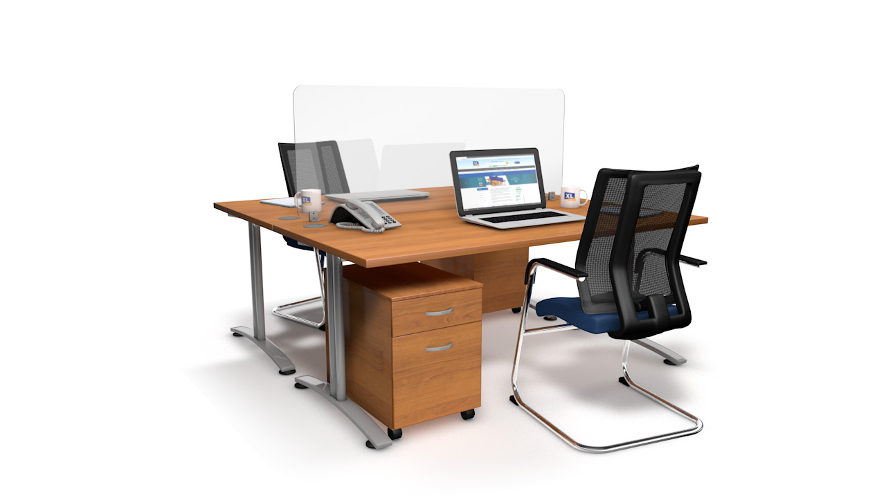 Spectrum Plus Acrylic Glass Desk Divider Screen