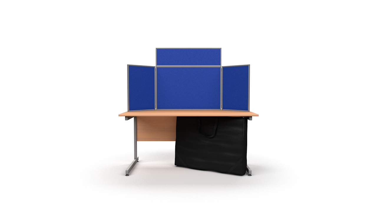 Tabletop Display Boards Aluminium Frame Landscape Panel