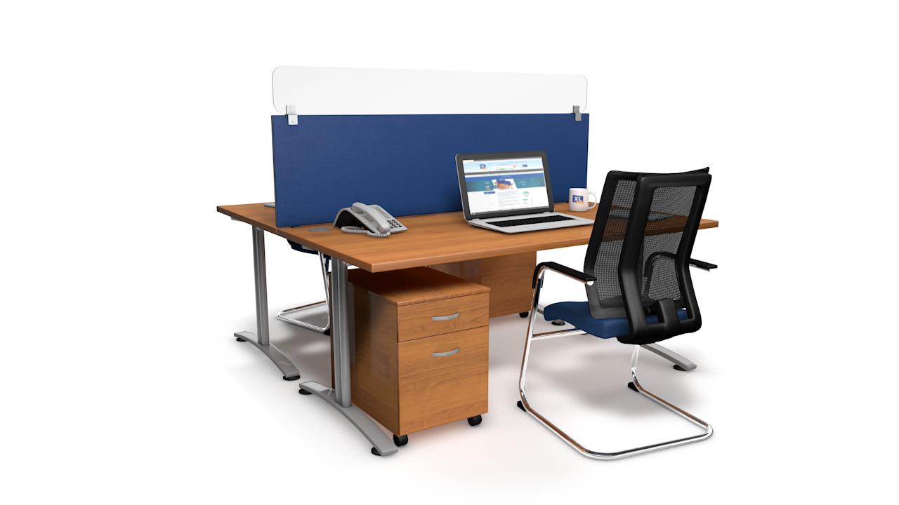 Spectrum Plus Acrylic Glass Desk Screen Topper Guard