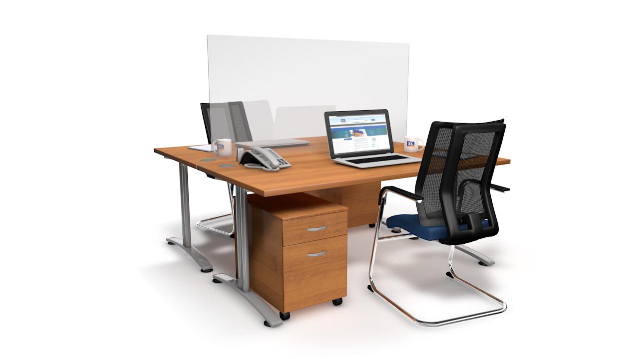 EASYFIT Perspex Office Desk Screen