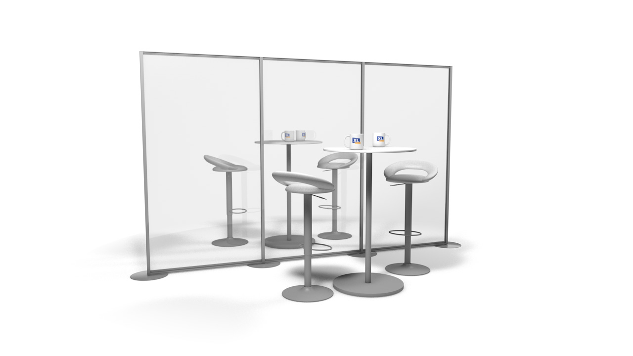 Free Standing Perspex Office Partition