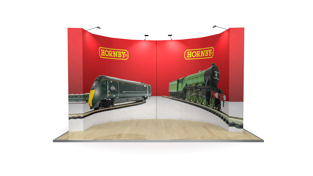Curved Fabric Exhibition Stand 4 Metres