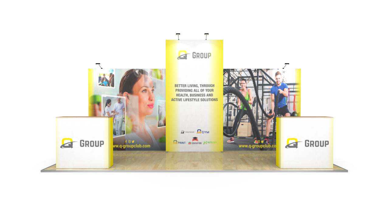 6m XL Jumbo Tension Fabric Pop Up Stand