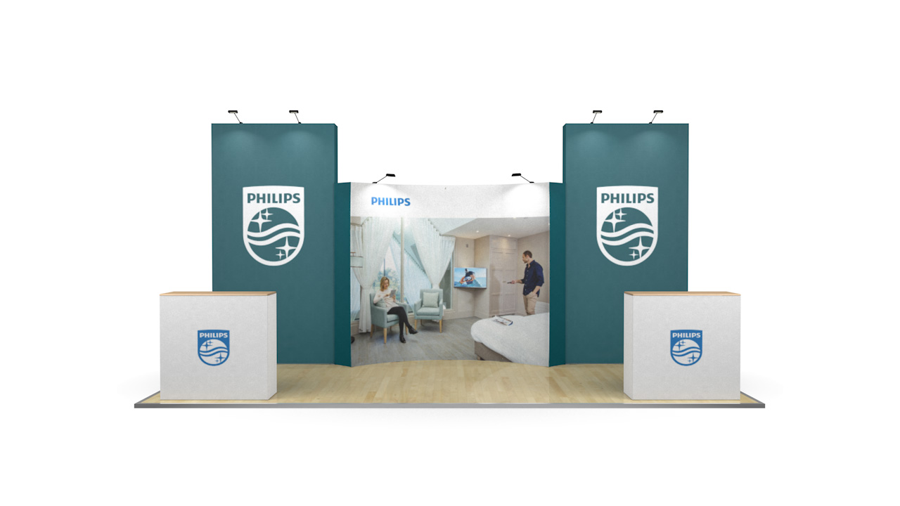 6m XL Jumbo Curved Exhibition Back Drop