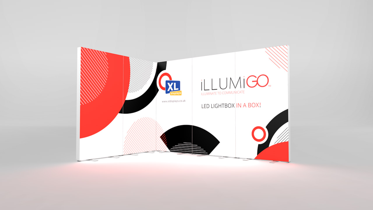 iLLUMiGO Lightbox Exhibition Stand 3x2 Corner