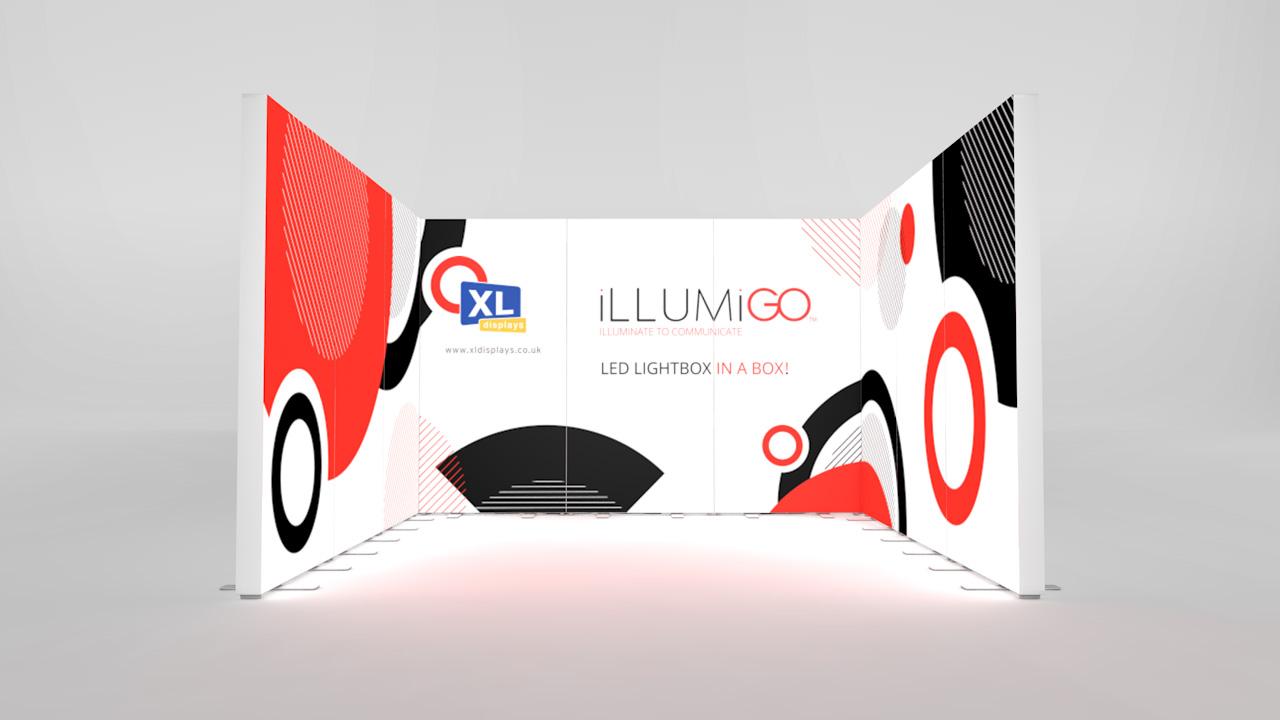 iLLUMiGO Lightbox Exhibition Stand 3x3 Booth