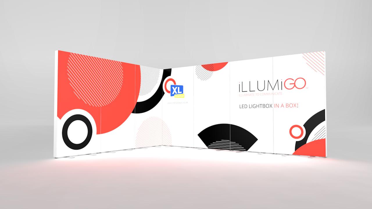 iLLUMiGO Lightbox Displays 3x4 Corner
