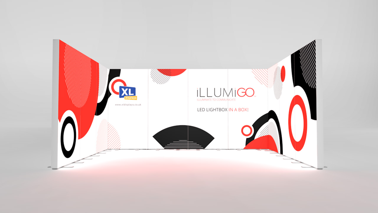 iLLUMiGO Backlit Exhibition Stands 3x4 U-Shape Booth