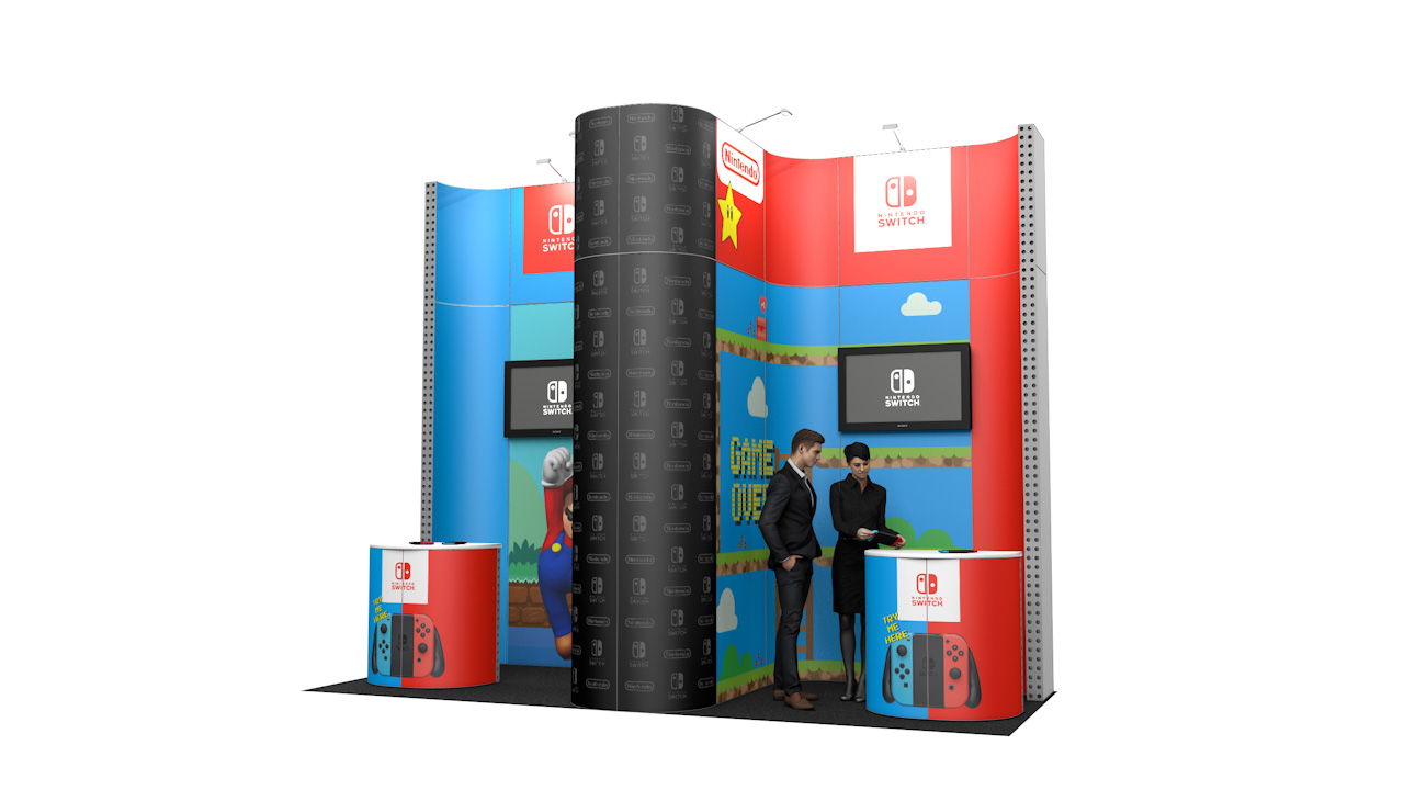 Integra<sup>®</sup> Exhibition Stand 5m x 2m Backwall Kit 14 - To Hire