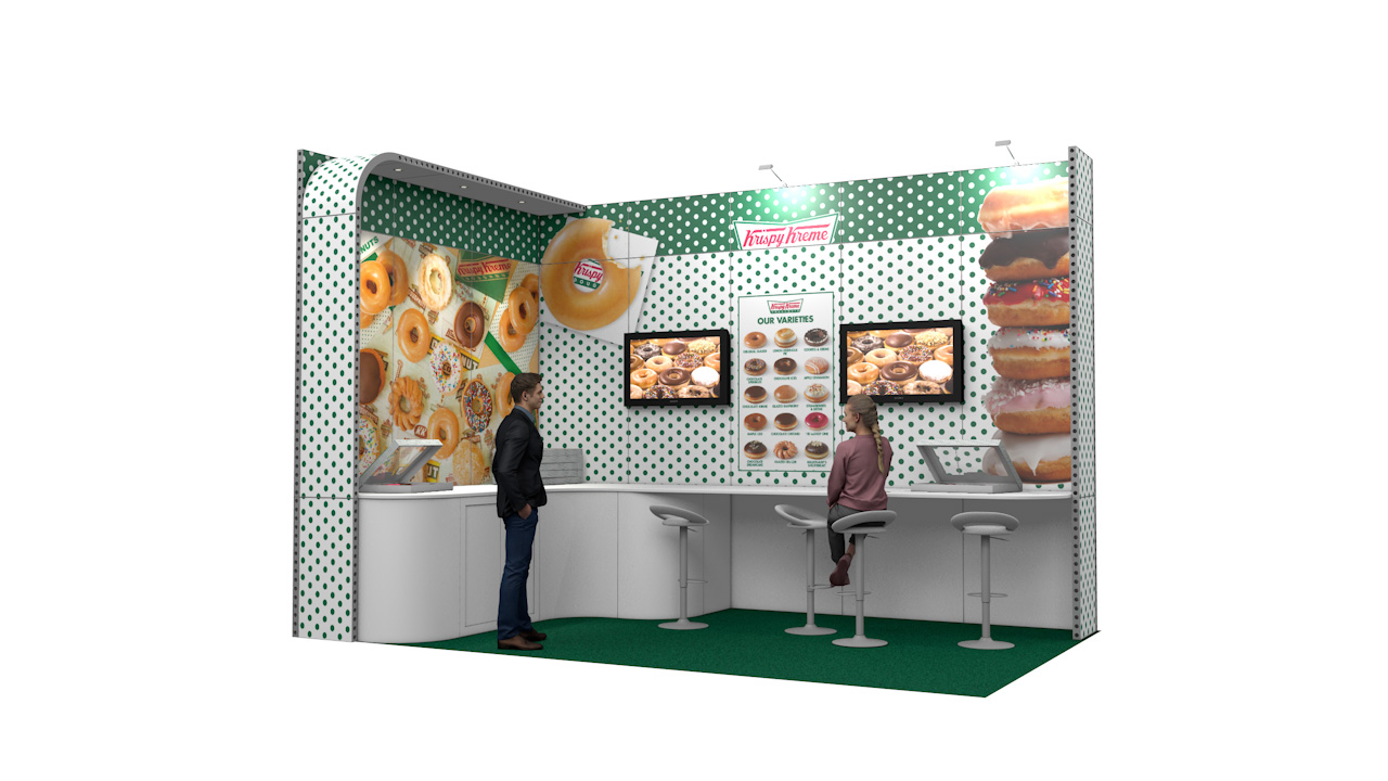 Integra® Exhibition Stand 5m x 3m L-Shaped Kit 16 - To Hire