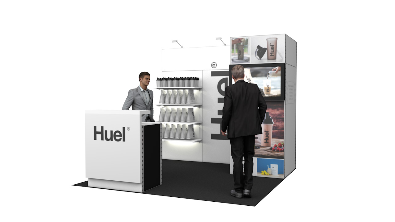 Integra<sup>®</sup> Exhibition Stand 3m x 3m Backwall Kit 2 - To Hire