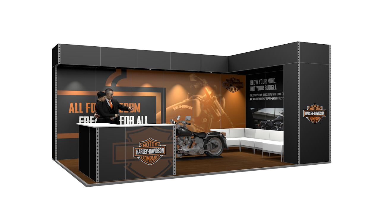 Integra<sup>®</sup> Exhibition Stand 6m x 4m Corner Kit 26 - To Hire