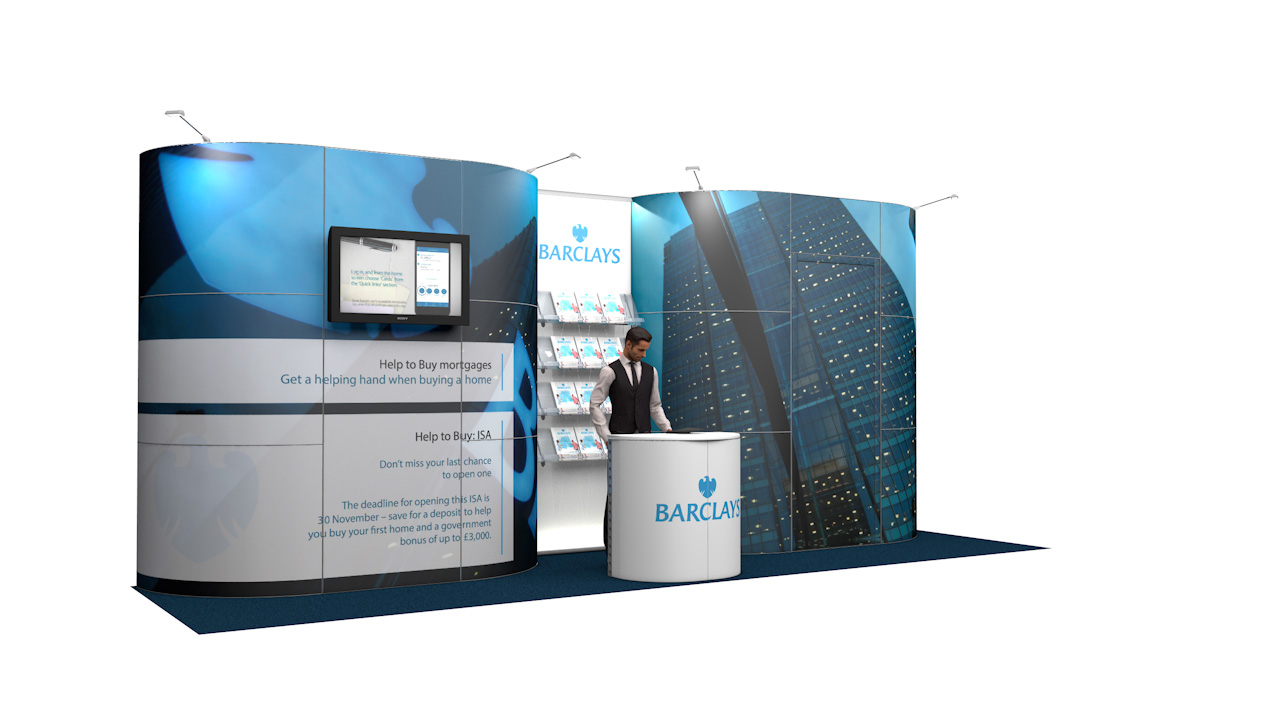 Integra<sup>®</sup> Exhibition Stand 7m x 2m Backwall Kit 31 - To Hire