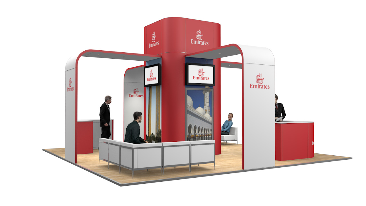 Integra™ Exhibition Stand 7m x 7m Island Kit 32 - To Hire