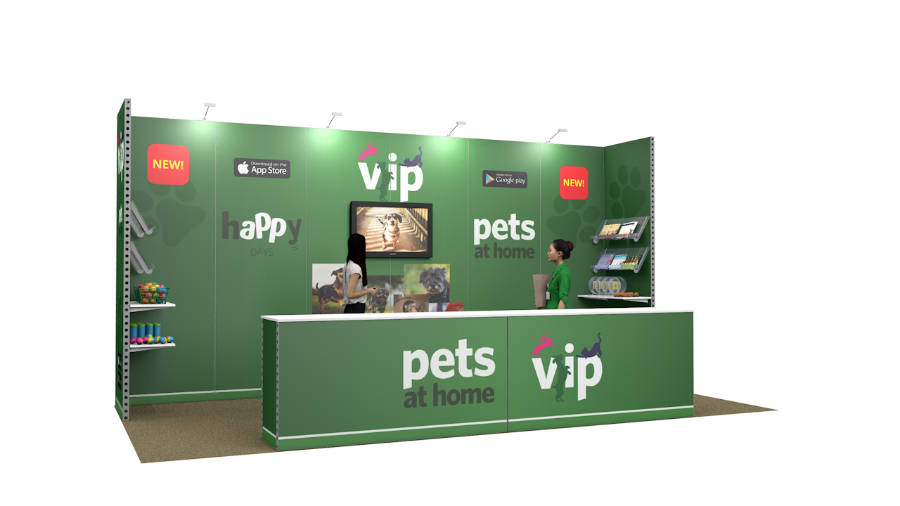 Integra<sup>®</sup> Exhibition Stand 6m x 3m Backwall Kit 38 - To Hire