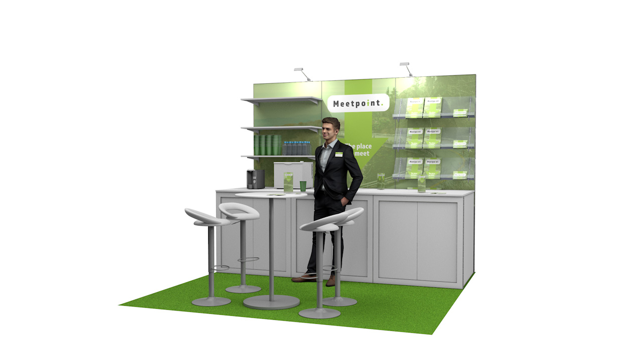 Integra<sup>®</sup> Exhibition Stand 3m x 3m Backdrop Kit 39 - To Hire