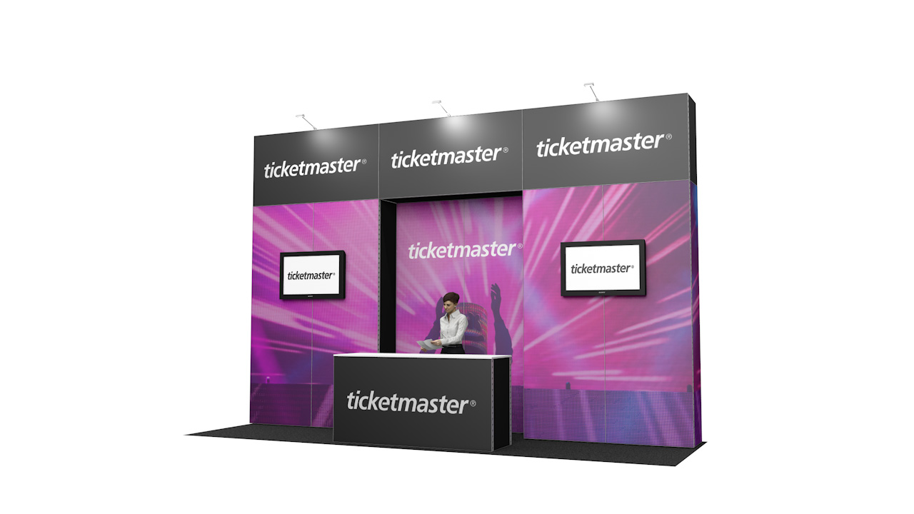 Integra<sup>®</sup> Exhibition Stand 6m x 2m Backwall Kit 4 - To Hire