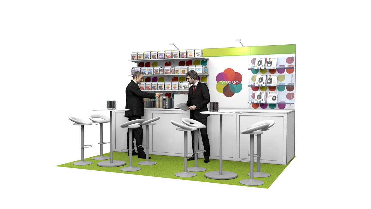 Integra™ Exhibition Stand 4m x 3m Backwall Kit 40 - To Hire