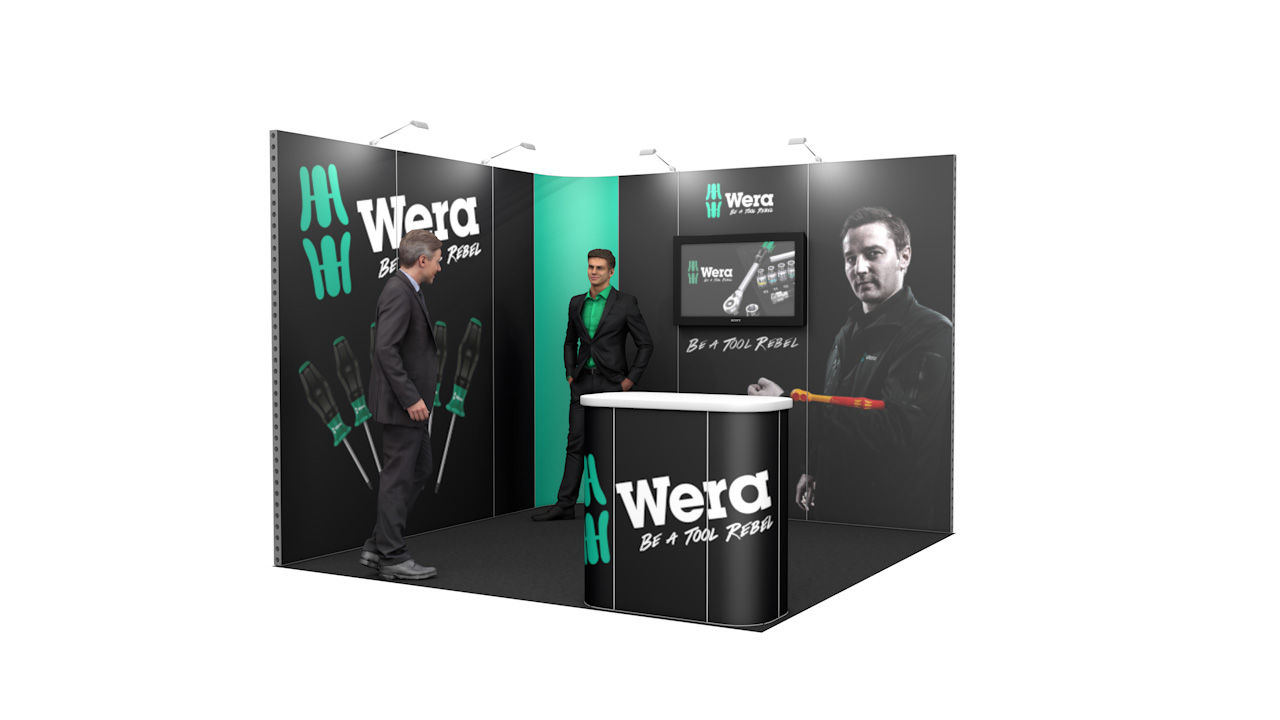 Integra<sup>®</sup> Exhibition Stand 3m x 3m L-Shaped Kit 51 - To Hire
