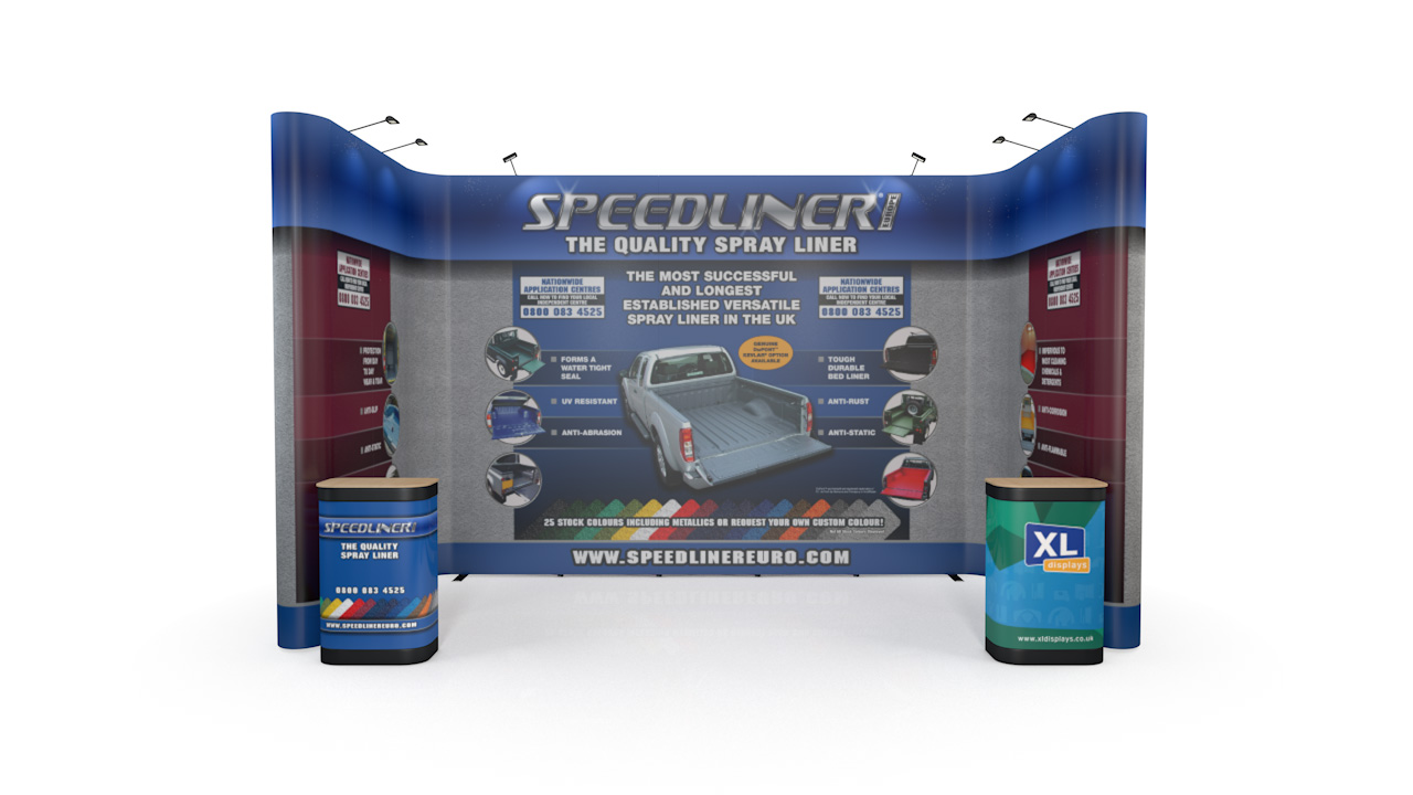 5m x 3m U-Shaped XL Jumbo Pop Up Exhibition Stand