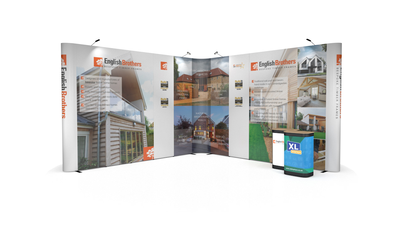 5m x 5m XL Jumbo Pop Up Backwall Exhibition Stand