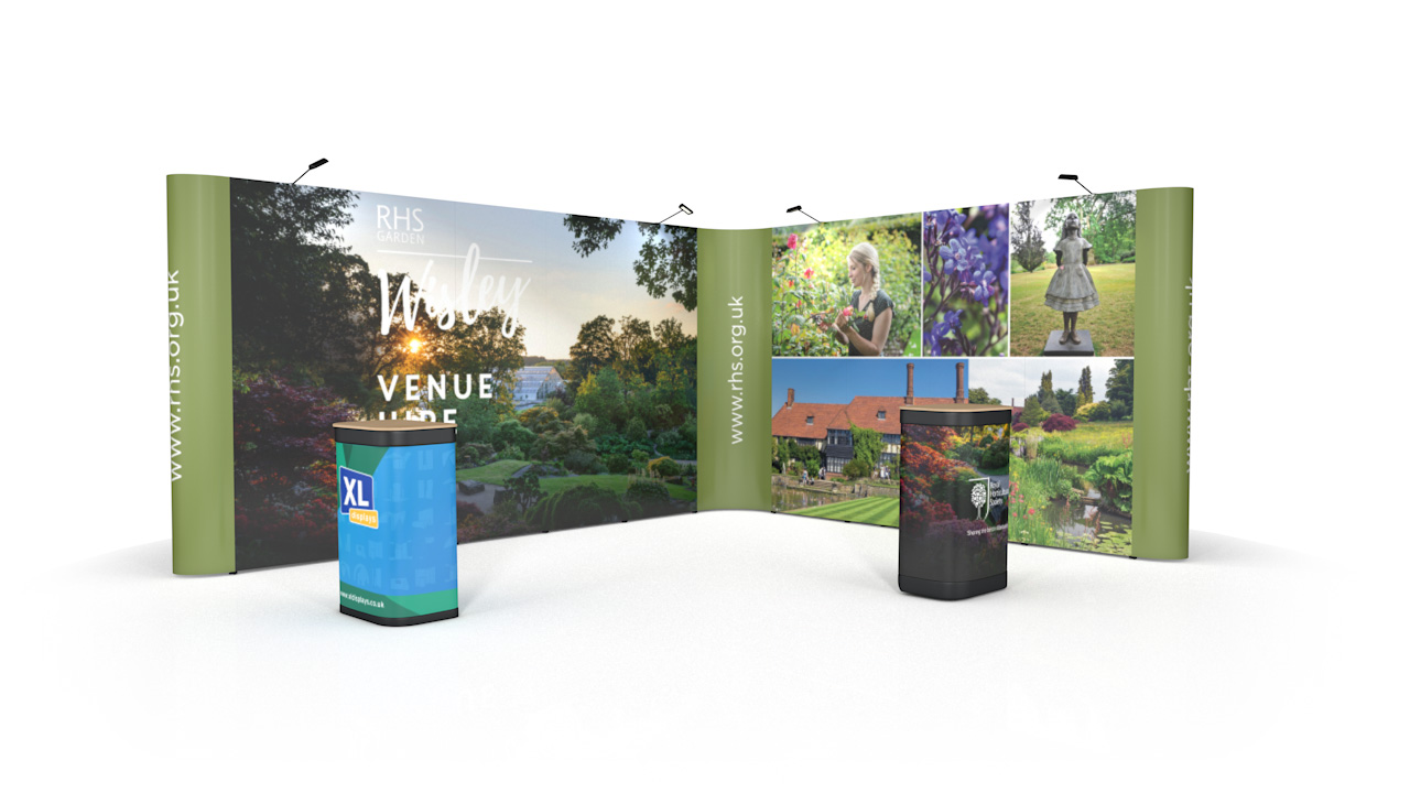 L-Shaped 4m x 5m Pop Up Exhibition Stand