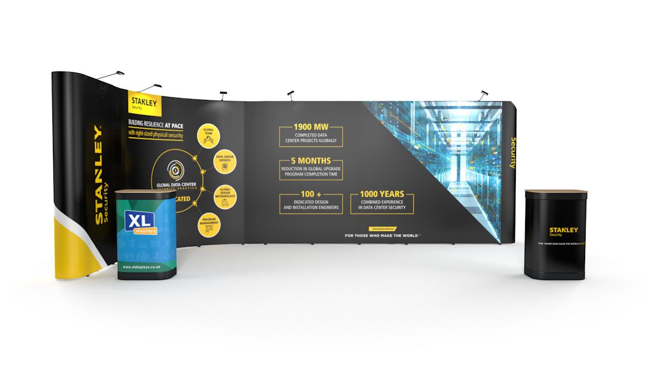 6m x 3m Linked L-Shaped Pop Up Display Stand