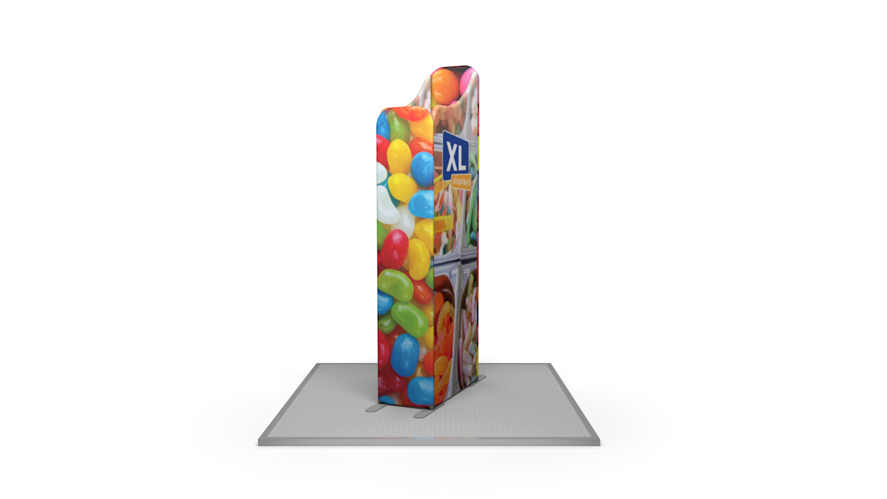 Modulate™ 2m Retail Island Fabric Display