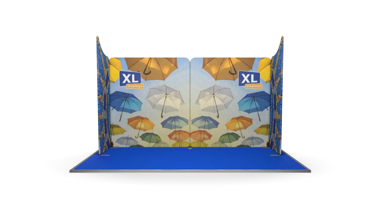 Modulate<sup>™</sup> 4m U-Shaped Fabric Display Booth