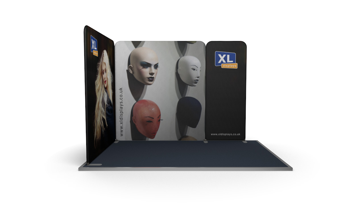 Modulate<sup>™</sup> 3m x 2m L-Shaped Stretch Fabric Displays