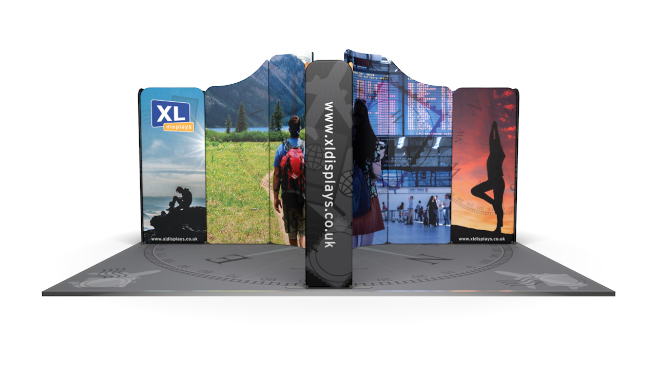 Modulate<sup>™</sup> 5m x 5m Island Fabric Display Stand