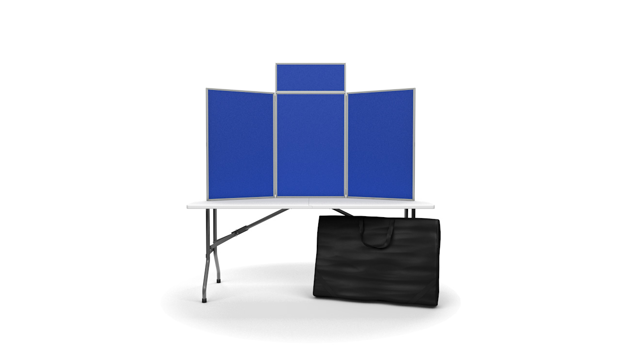 Senior tabletop display panel inc. header and carry bag PVC Frame