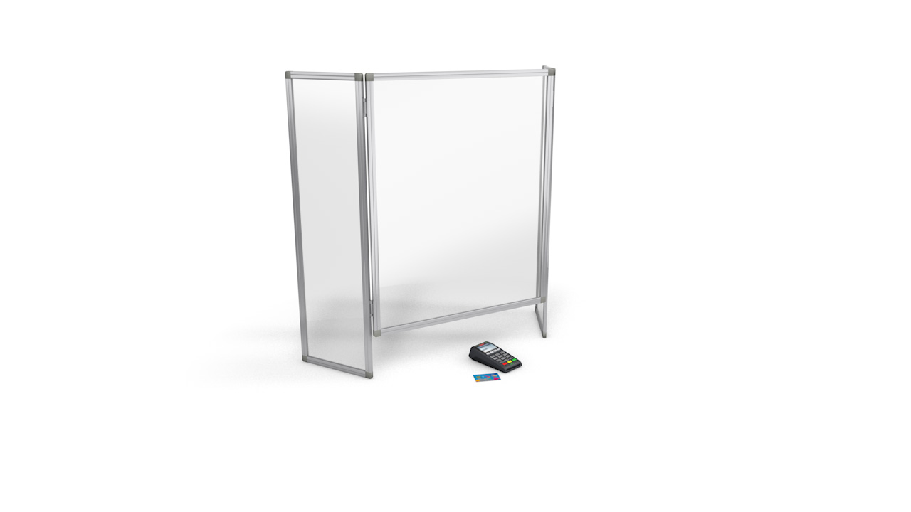 Folding Perspex Sneeze Screen Guard