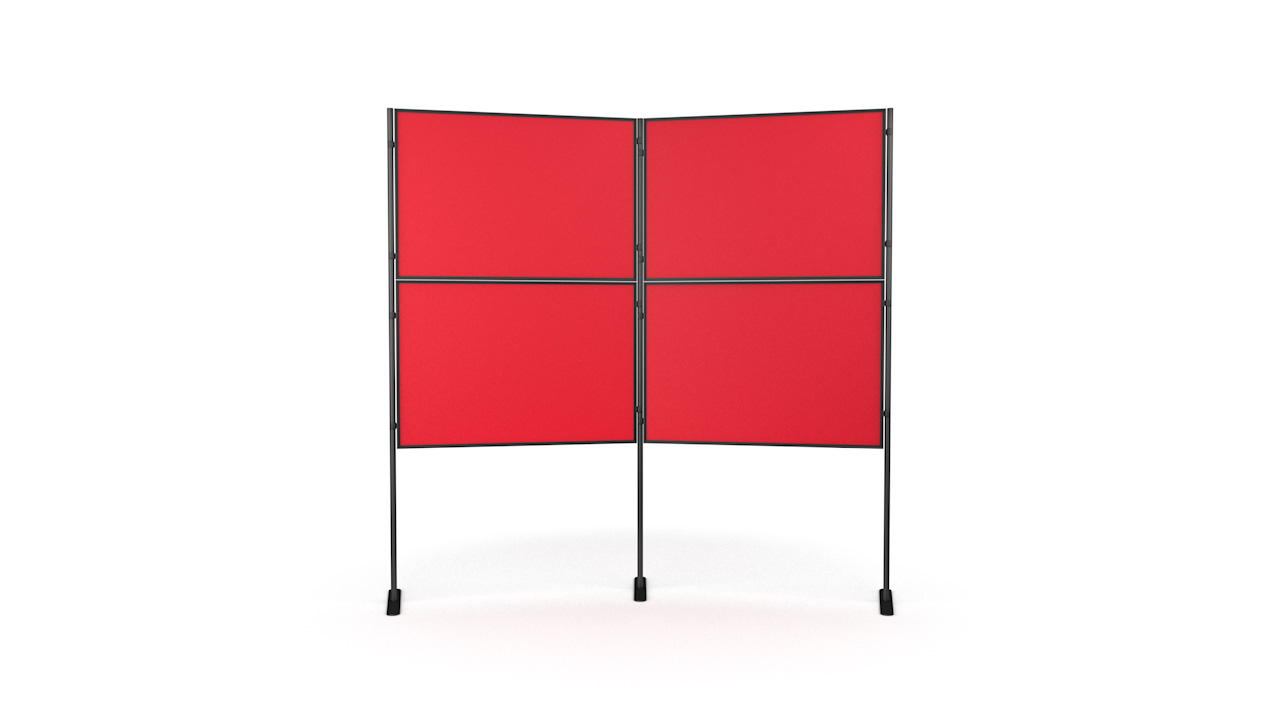 XL Standard 4 panel and pole modular display board system inc. carry bag