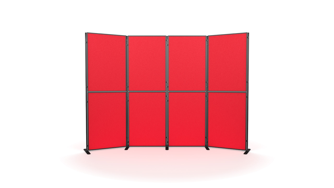 XL Standard 8 panel and pole modular display board system inc. carry bag